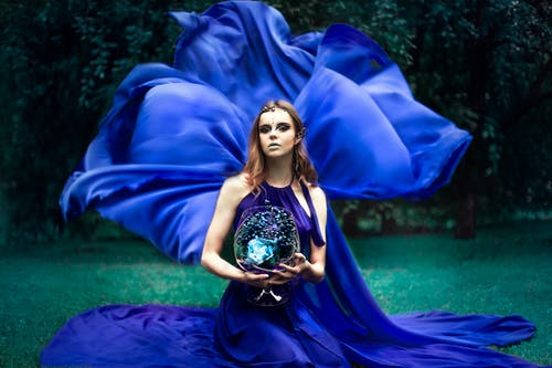 Základová fotografie zdarma na téma holka, modrá