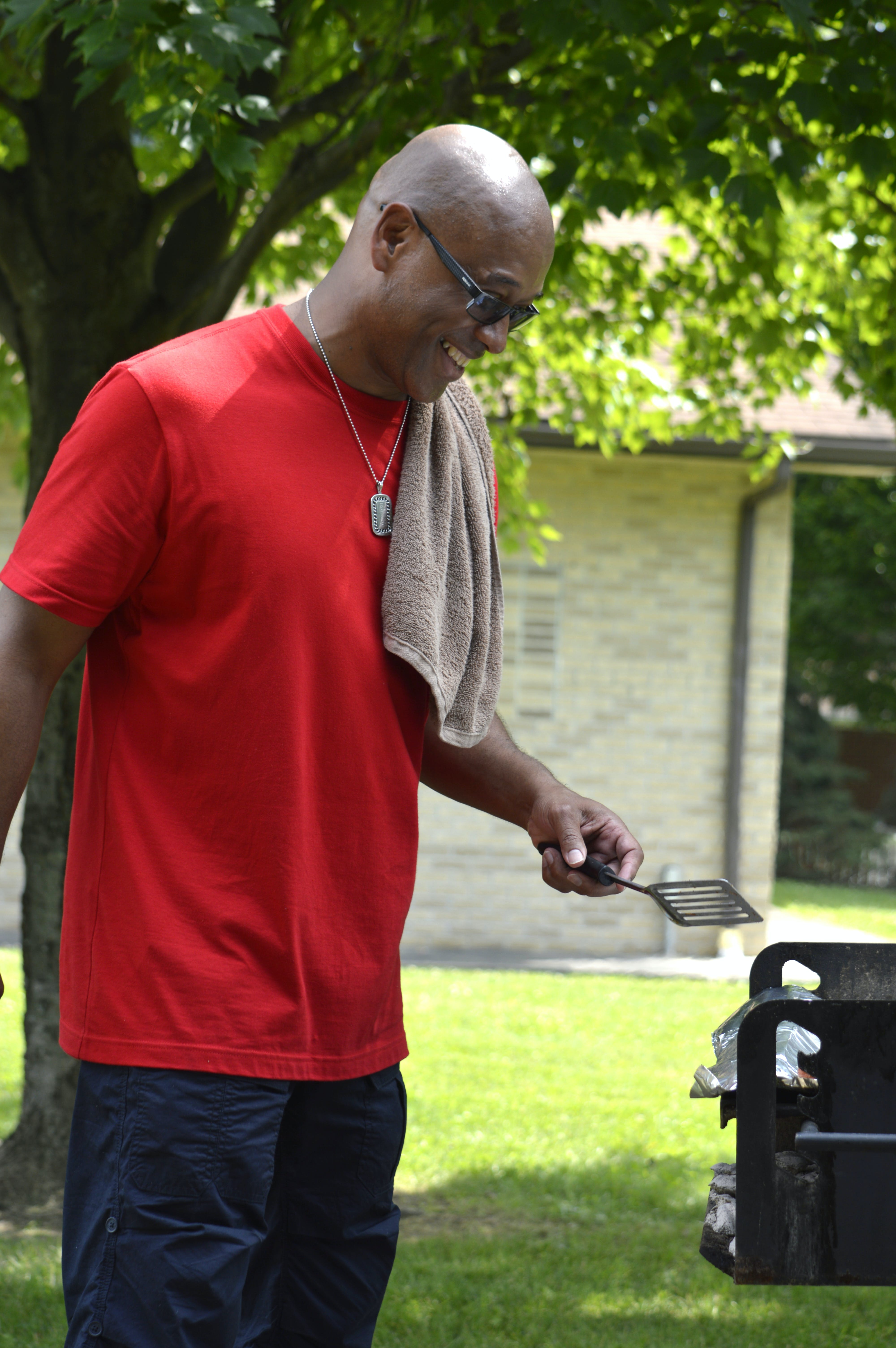 Free stock photo of bald, bbq, cooking, glasses