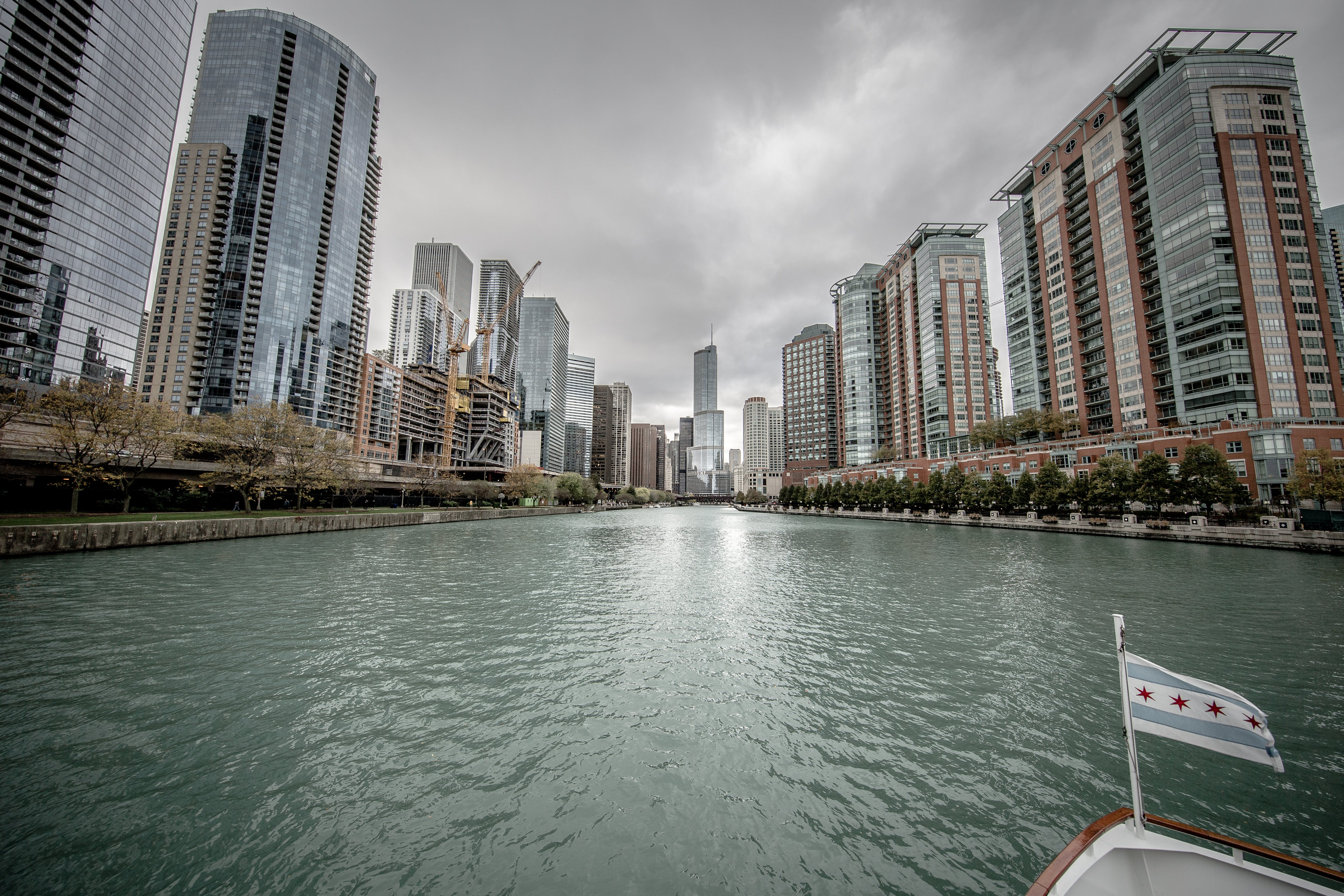 Free stock photo of boating, chicago, chicago flag, chicago river