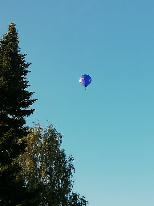 Free stock photo of blue sky, hot air balloon