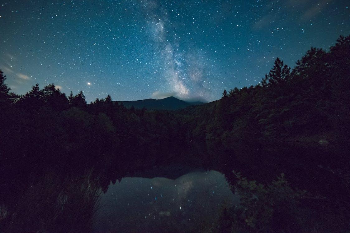 4k ταπετσαρία, galaxy, αντανάκλαση