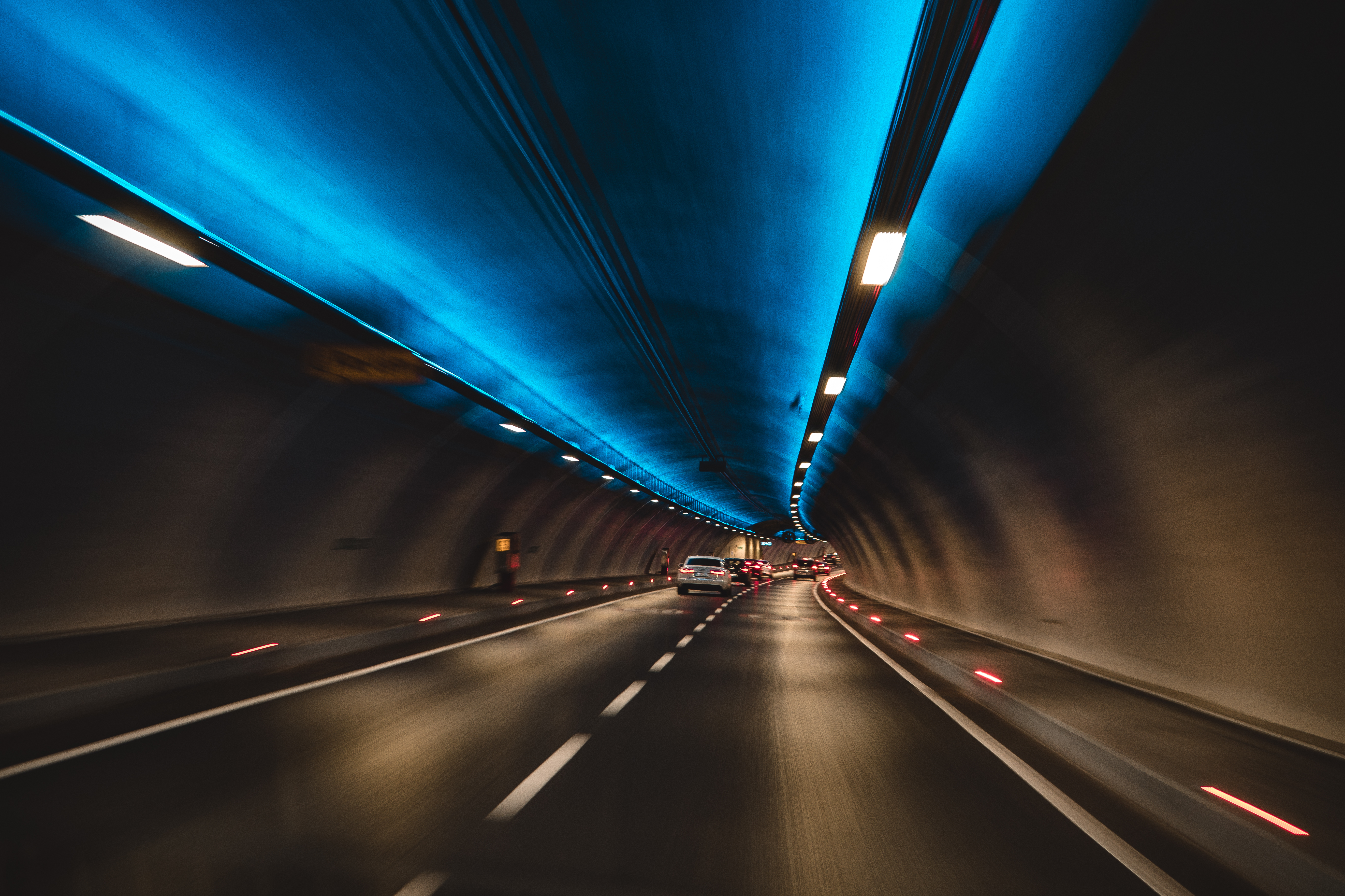 Timelapse Photography of Cars in Tunnel