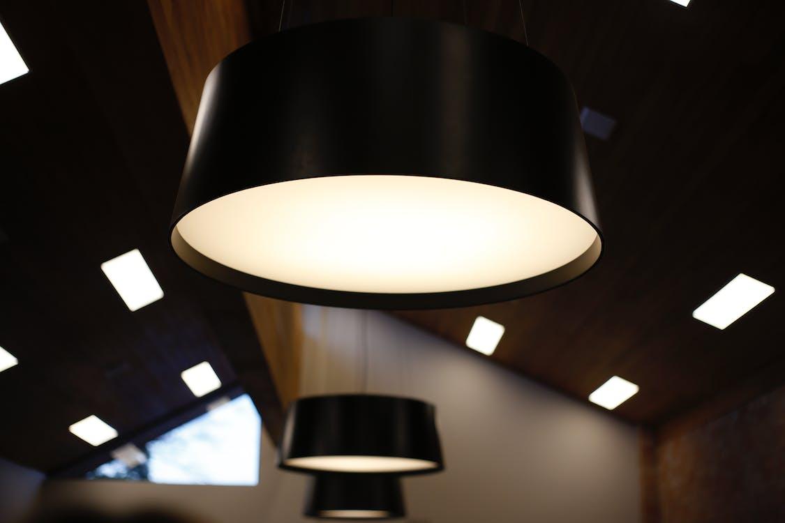 디자인, 불빛, 불이 켜진