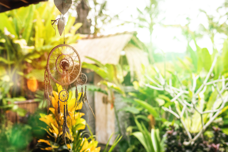 Beige Dreamcatcher Near Green Plants