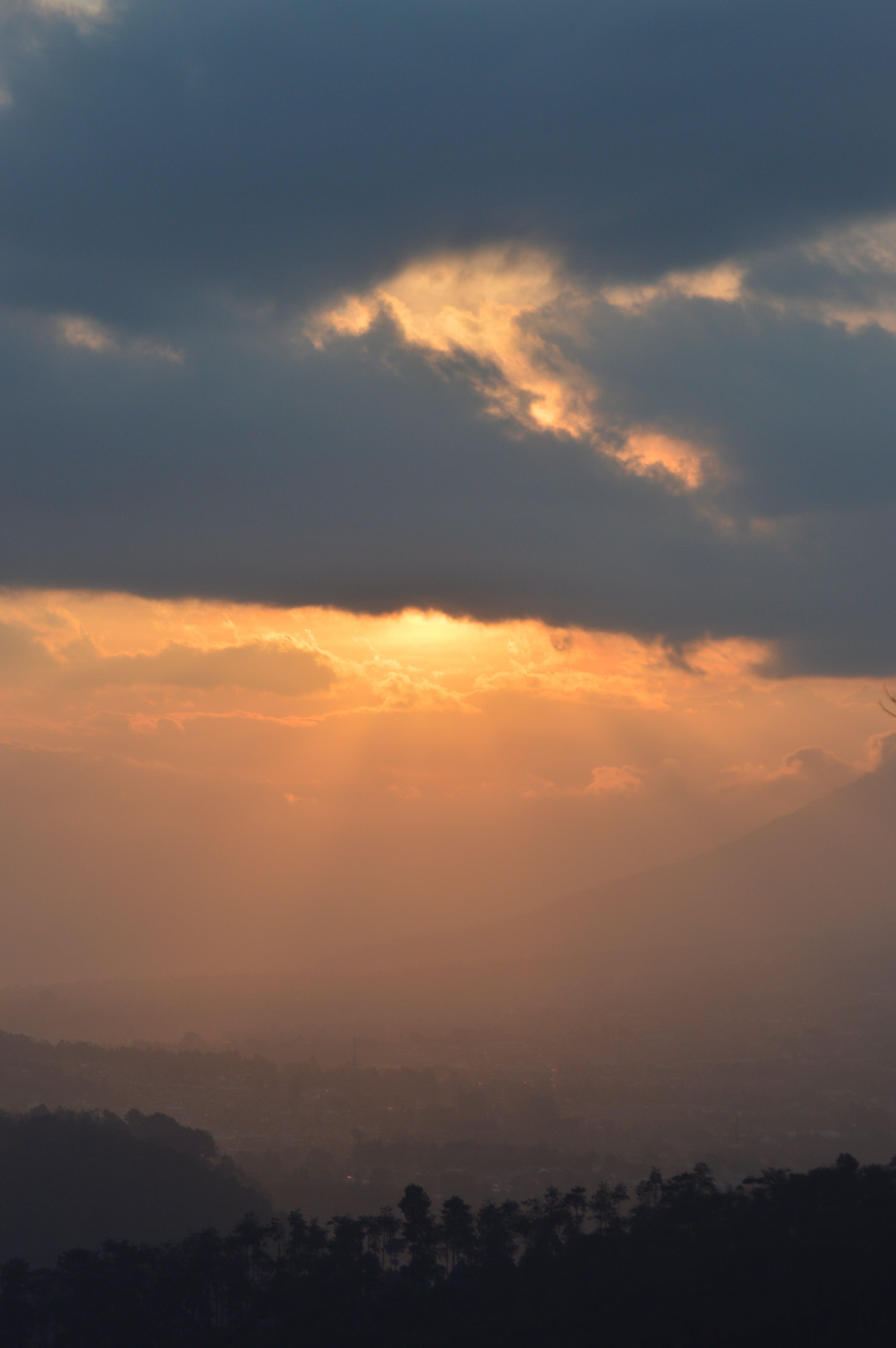 Free stock photo of landscape, nature, sunset, orange sky