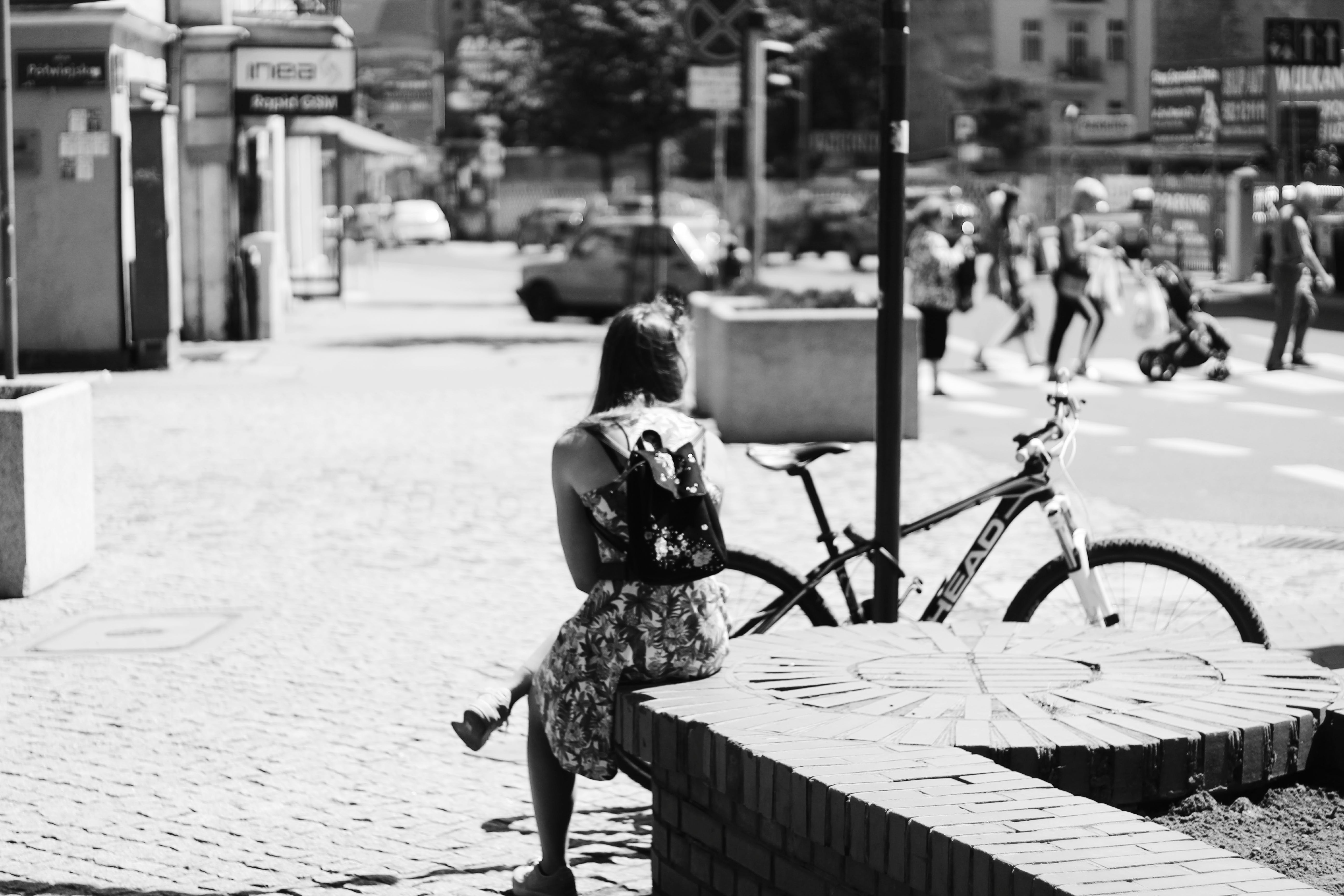 Free stock photo of bicycle, girl