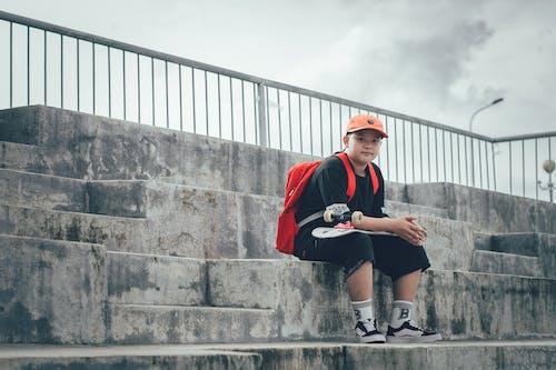 Δωρεάν στοκ φωτογραφιών με casual, skateboard, αγόρι, άνθρωπος