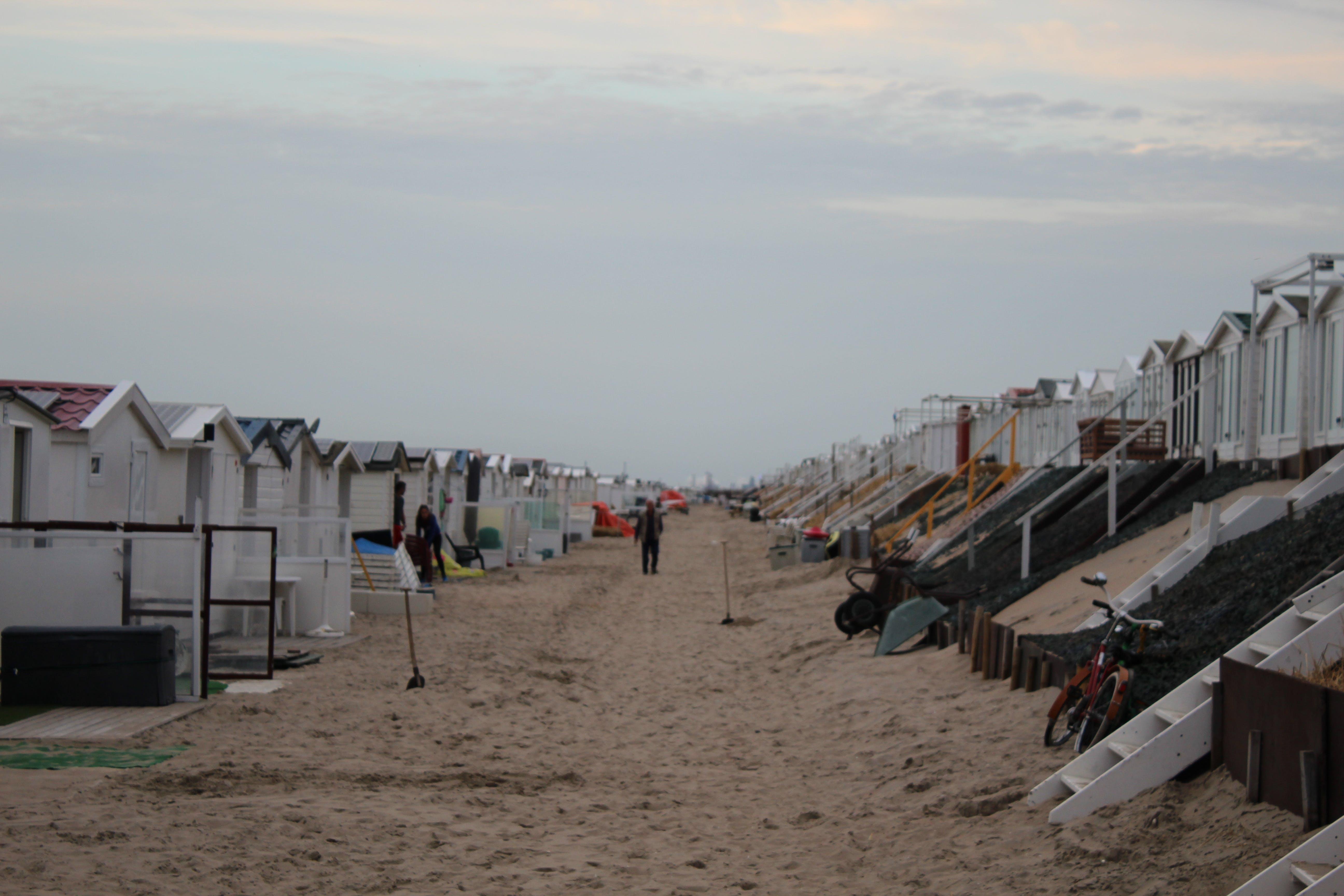 sand, sandstrand, strandhütte