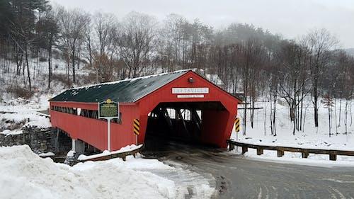 Free stock photo of covered bridge, vermont