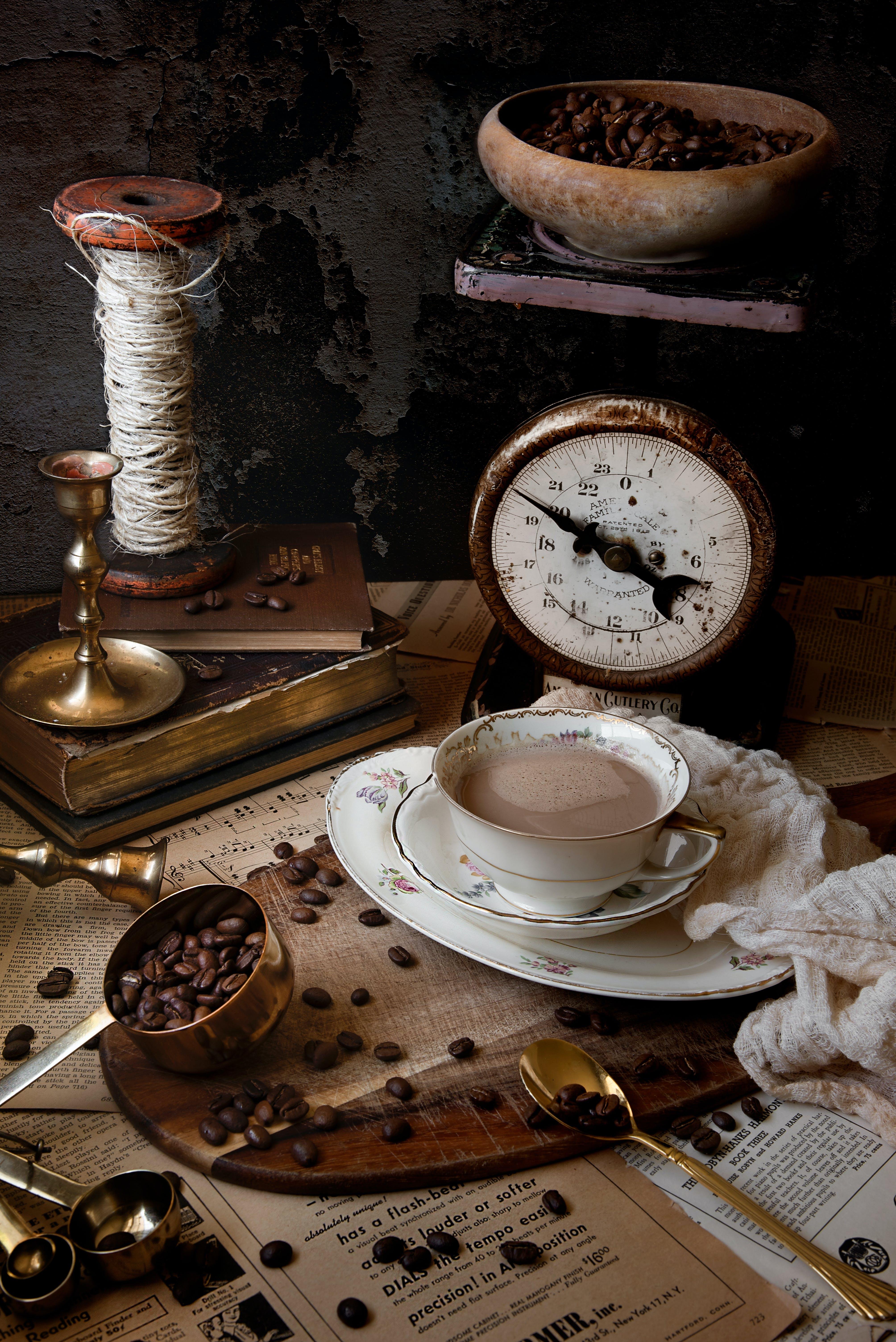 Fotobanka sbezplatnými fotkami na tému espreso, káva, kávové zrná, kofeín