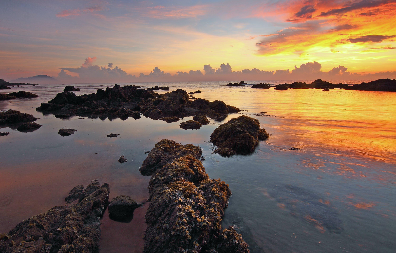Kostenloses Stock Foto zu meer, dämmerung, natur, himmel