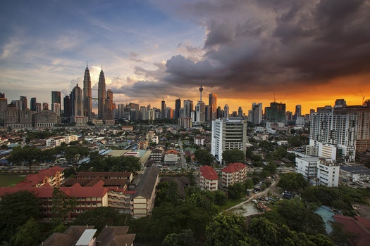Free stock photo of city, landscape, sky, sunset
