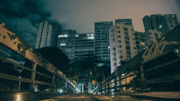 Free stock photo of city, road, lights, night