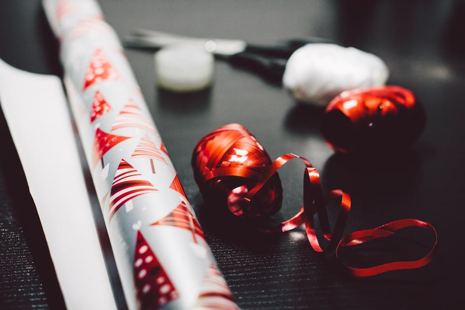 christmas, gift, gift wrap paper