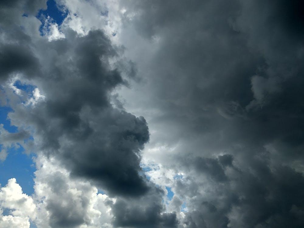 дождь, небо, облака