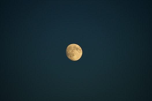 Free stock photo of night, space, dark, moon