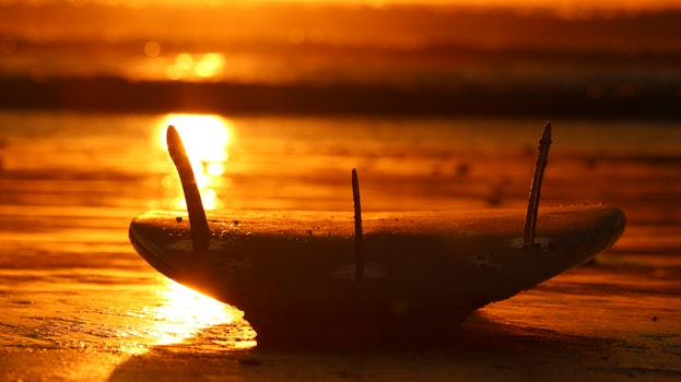 Free stock photo of water, ocean, sunrise, surfboard