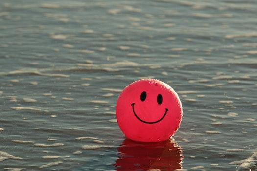 Free stock photo of beach, ocean, ball, smiley
