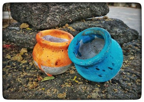 Fotobanka sbezplatnými fotkami na tému črepníky, farby, farebný, India