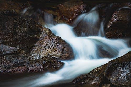 Бесплатное стоковое фото с вода, камни, пороги, поток