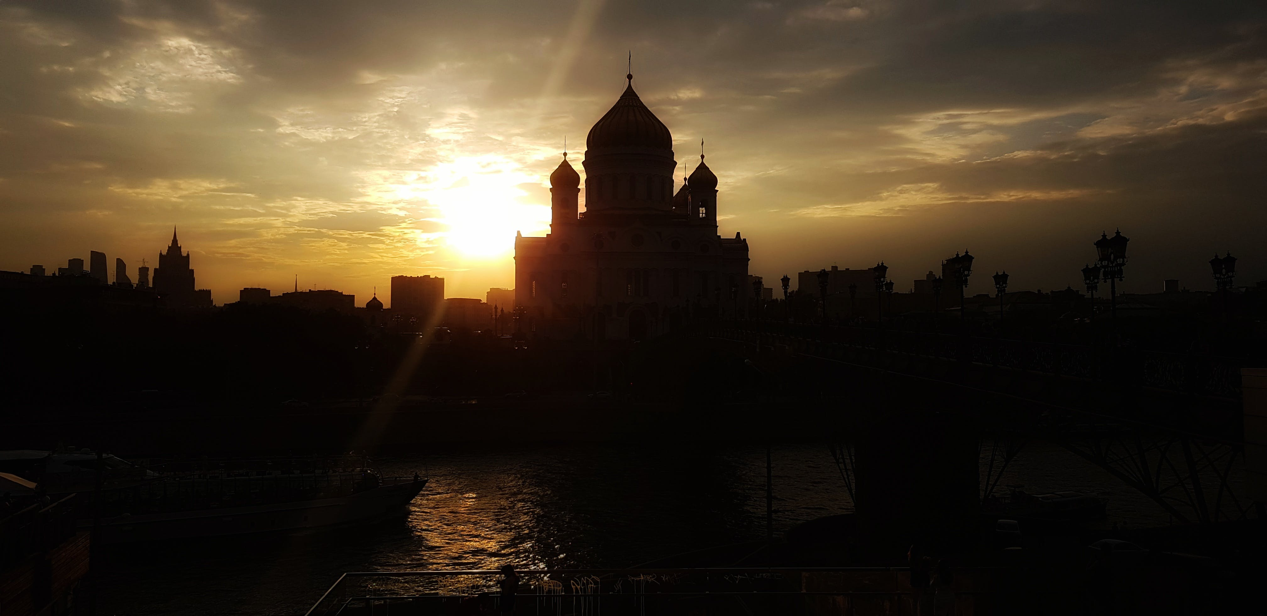 Free stock photo of cathedral, evening sky, moscow