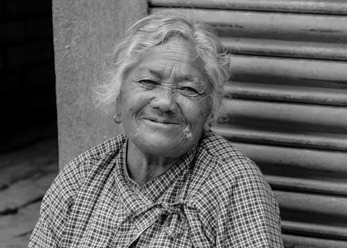 Free stock photo of black and white, nepal, nepali women, old women