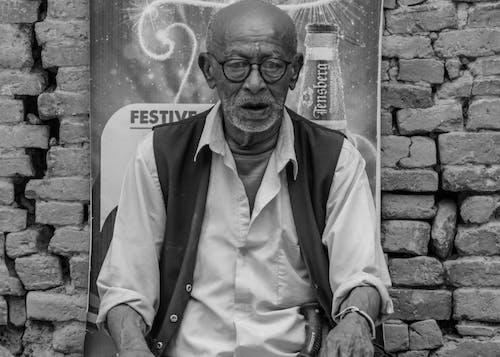 Free stock photo of black and white, kirtipur, nepal, nepali old man