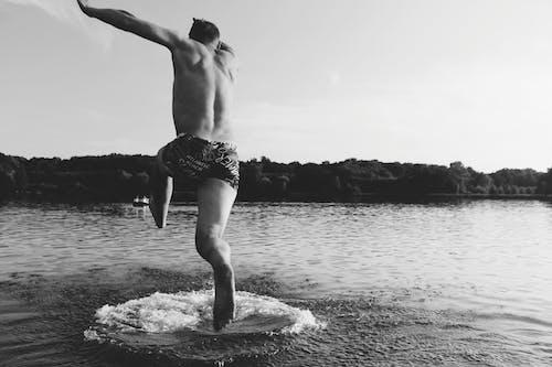 Foto stok gratis air, hitam & putih, laut, lautan