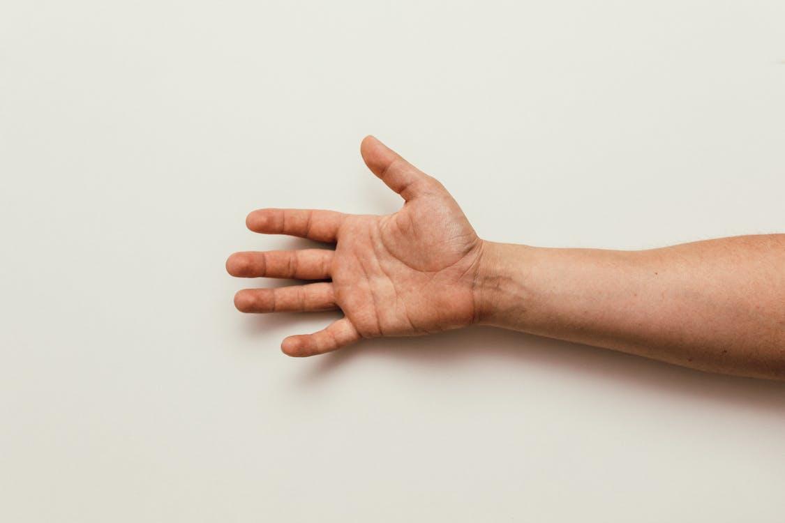 dłoń, mężczyzna, palce
