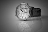 schwarz und weiß, armbanduhr, zeit