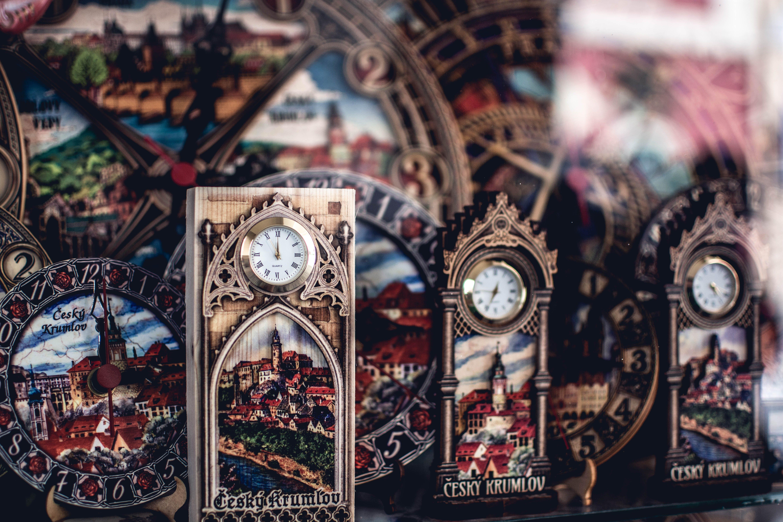 Gray Framed Clock Photo