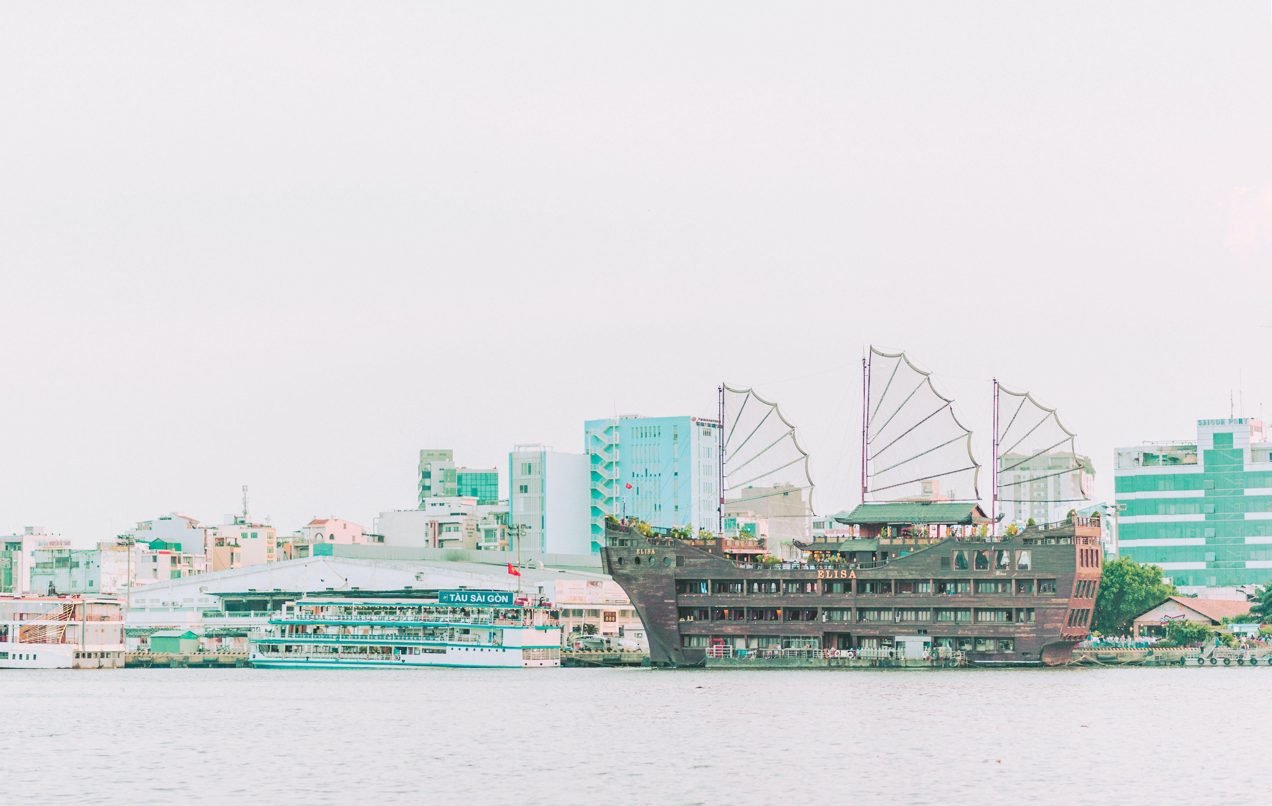 City Buildings Near Body of Water