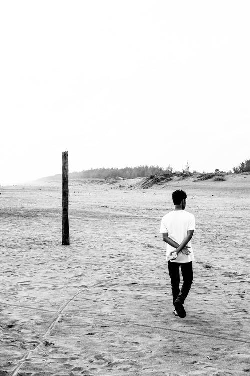 Free stock photo of beach, black and white, bnw