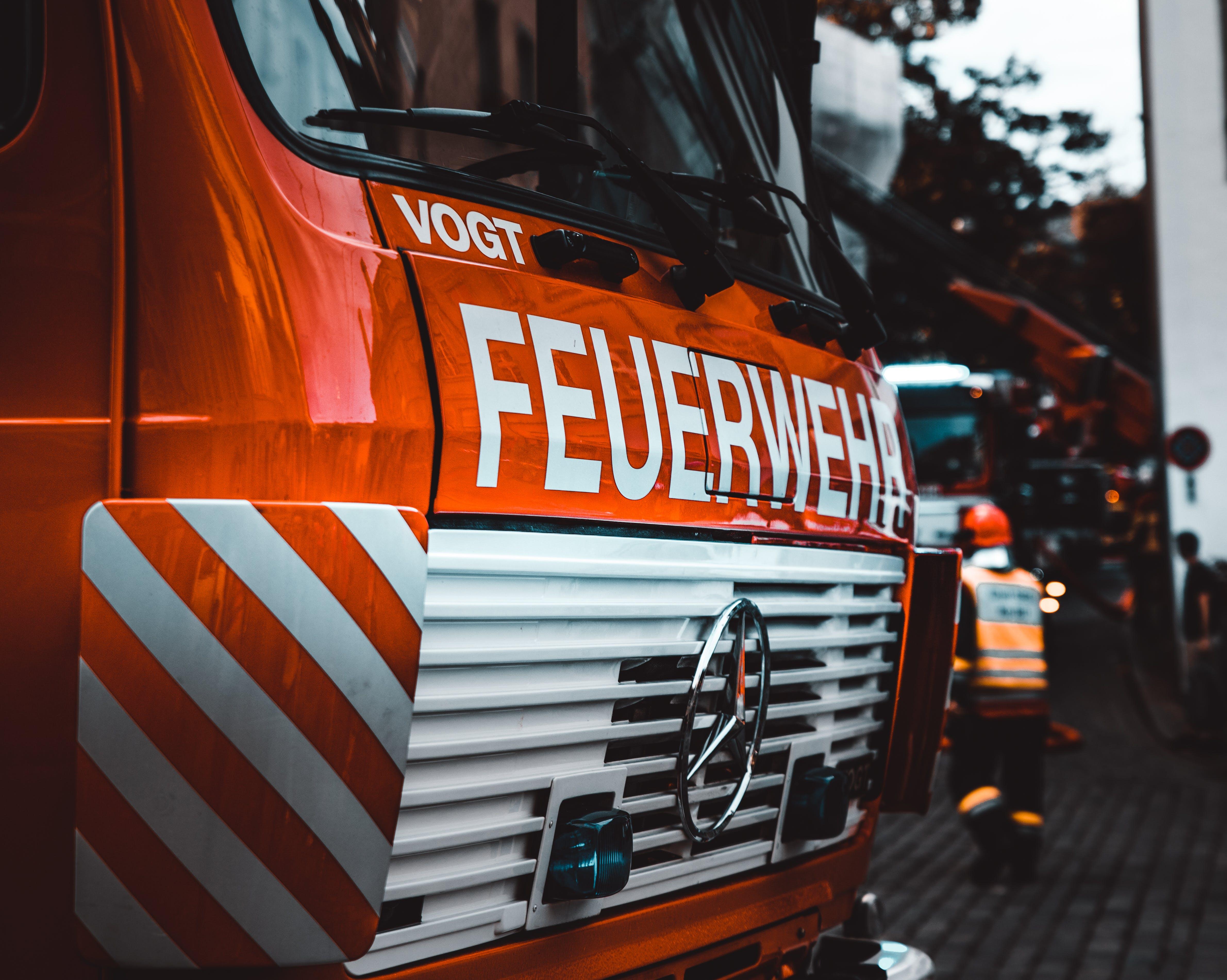 Red Mercedes-benz Firetruck