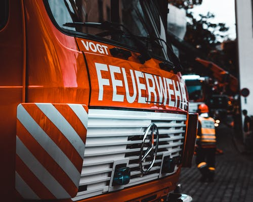 Red Mercedes-benz Firetruck
