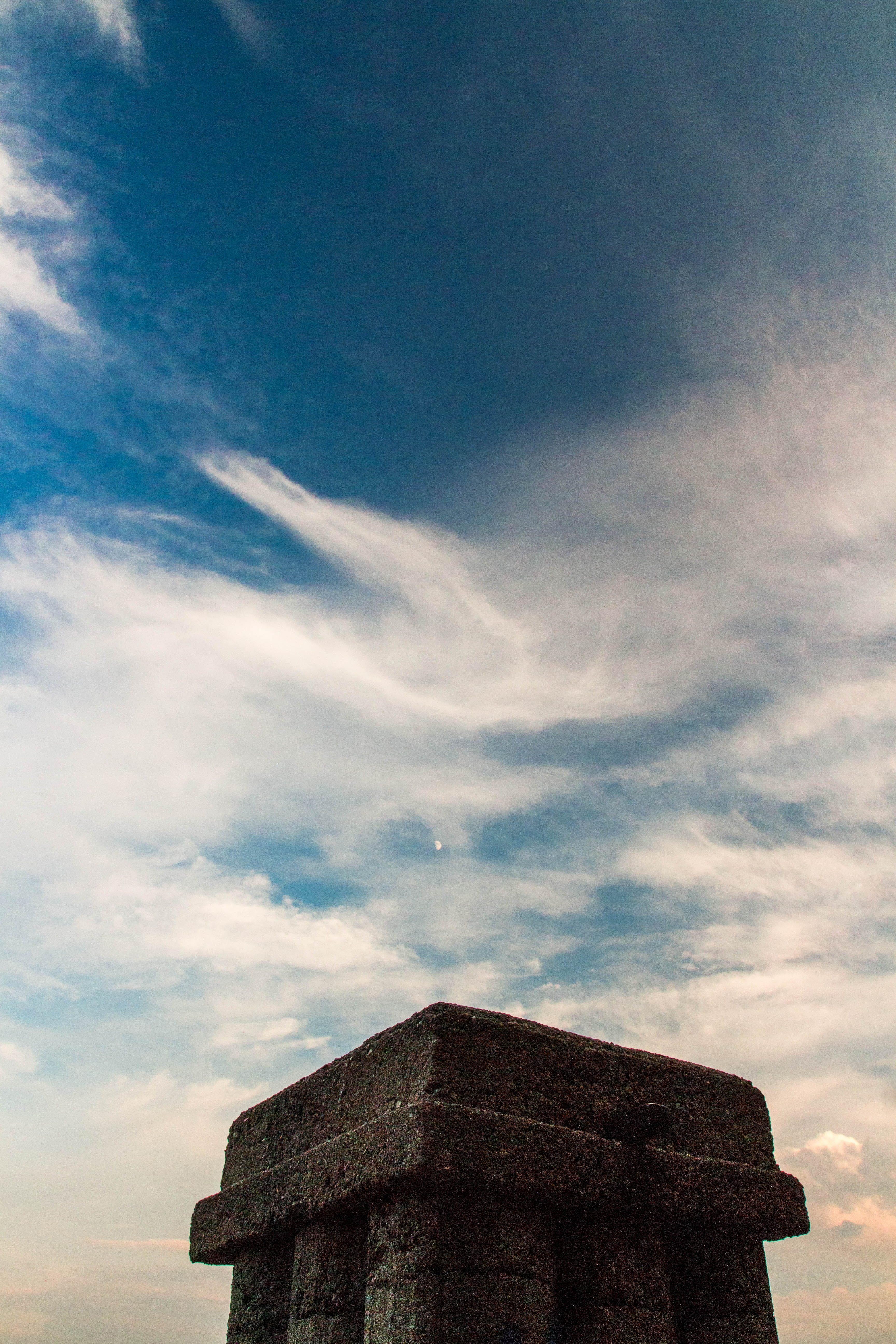 Temple Under Cloudy Sky