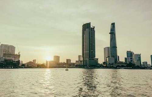 Skyscraper Buildings Near Body of Water