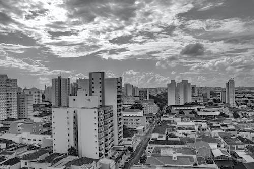 Free stock photo of black, buildings, city