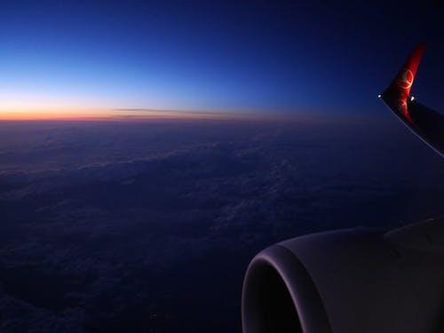 Kostenloses Stock Foto zu flügel, flugzeug, himmel, türkische fluglinien