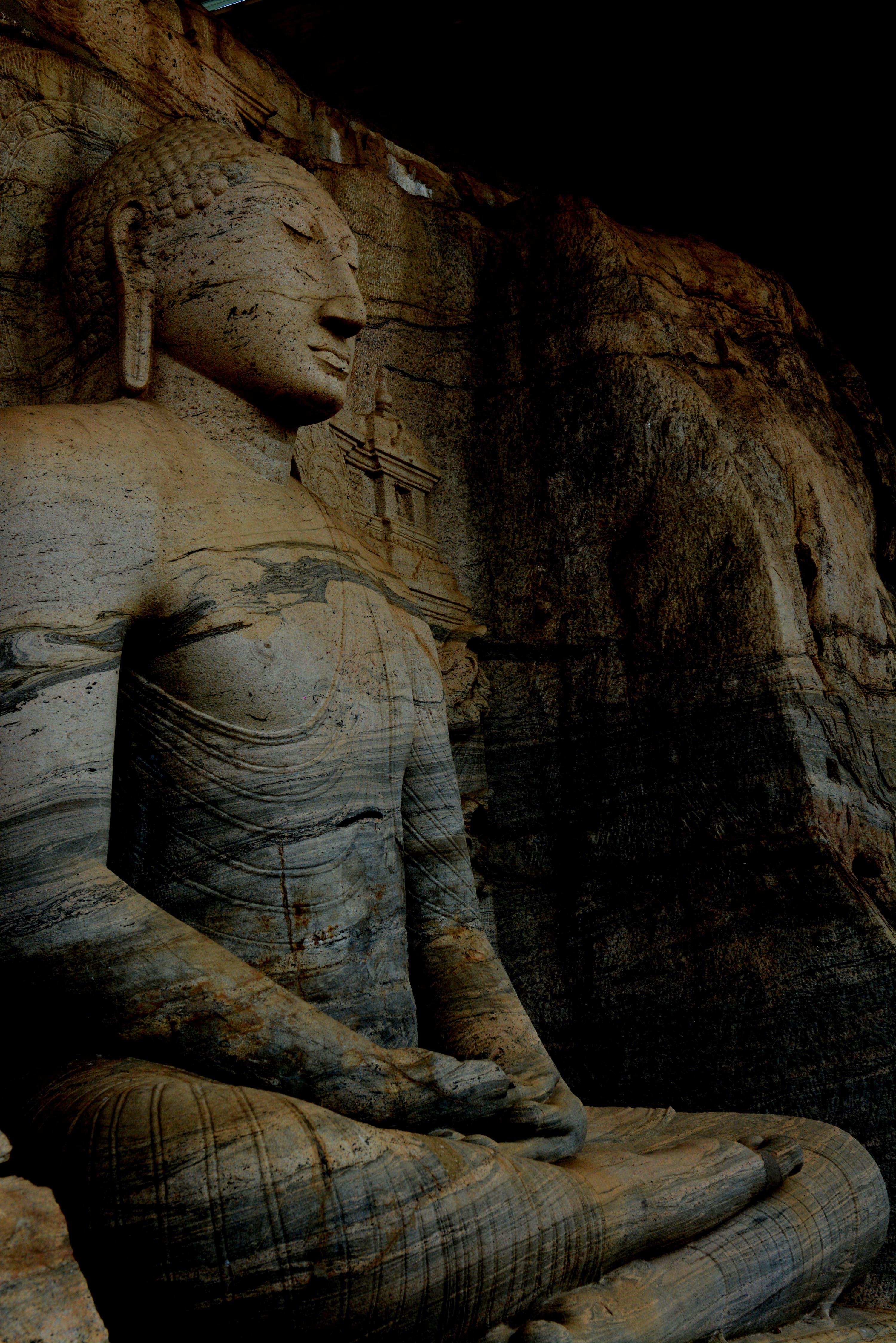 Free stock photo of buddhist temple, culture, gal viharaya, sri lanka