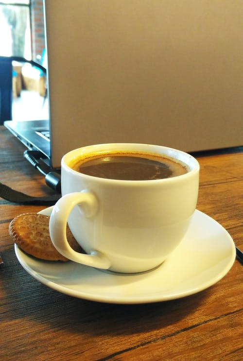 Free stock photo of biscuit, black coffee, coffee