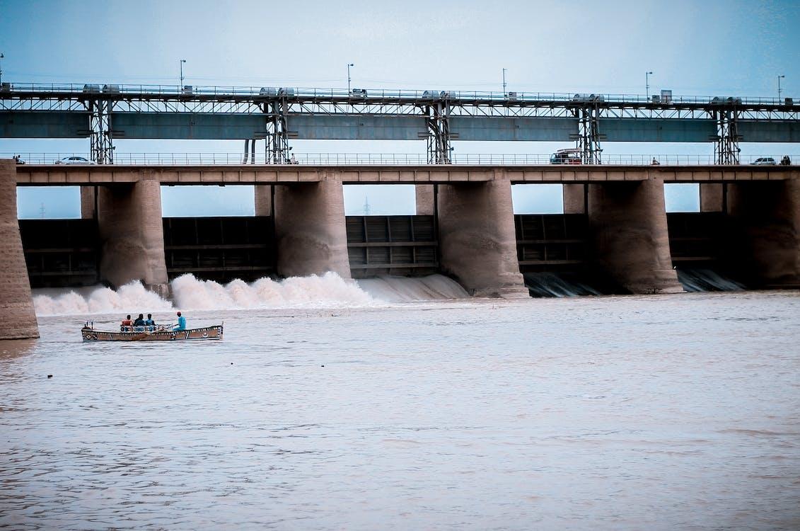 barrage, barrière, bateau