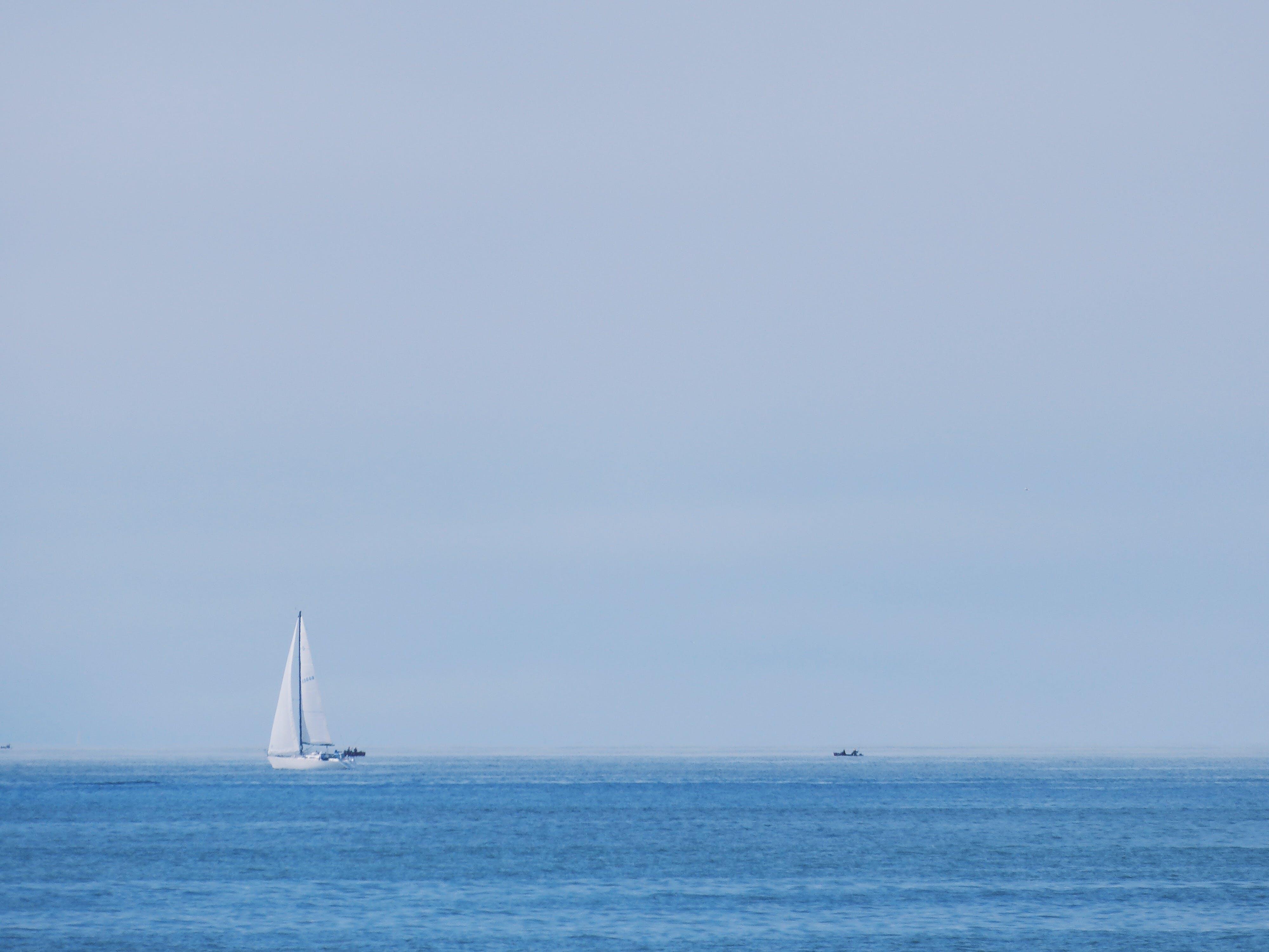 Free stock photo of beach, blue, ocean, sail