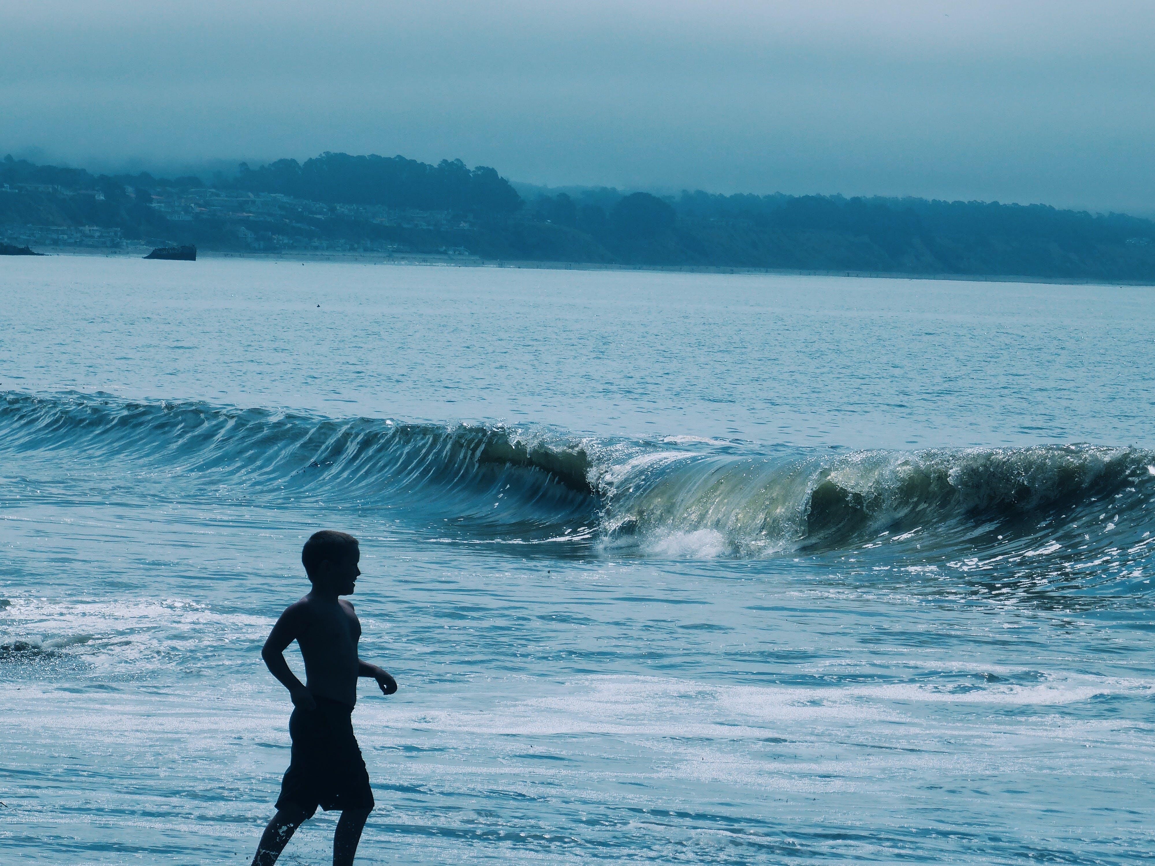 Free stock photo of bay, beach, black, blue