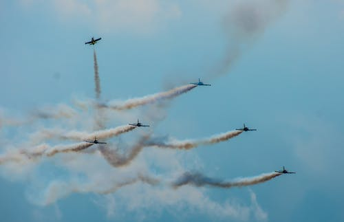 Six Jet Planes on Air Show