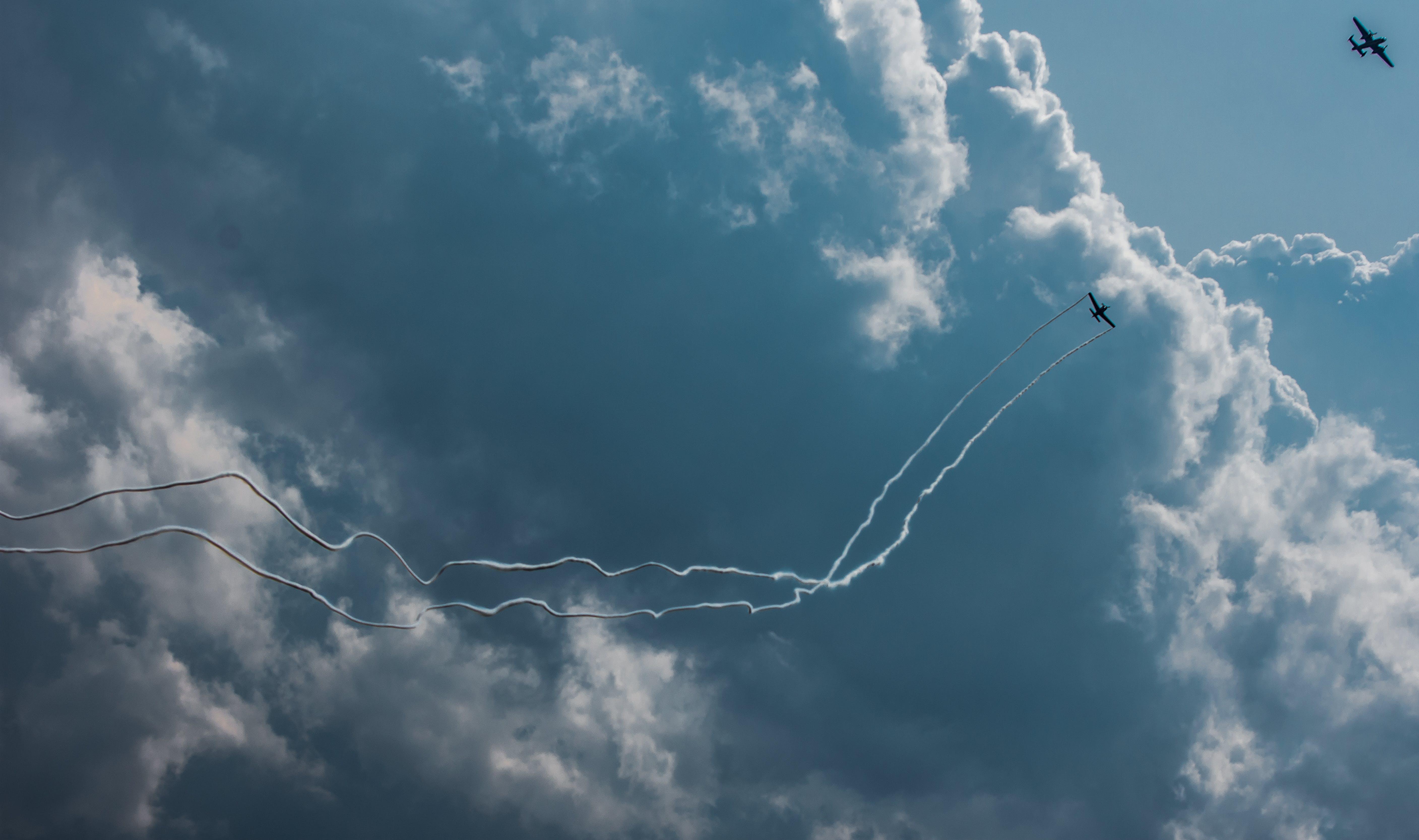 Photo of Planes Performing Aerobatics