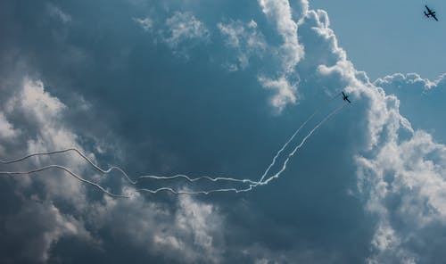 Photo of Planes Performing Aerobatics