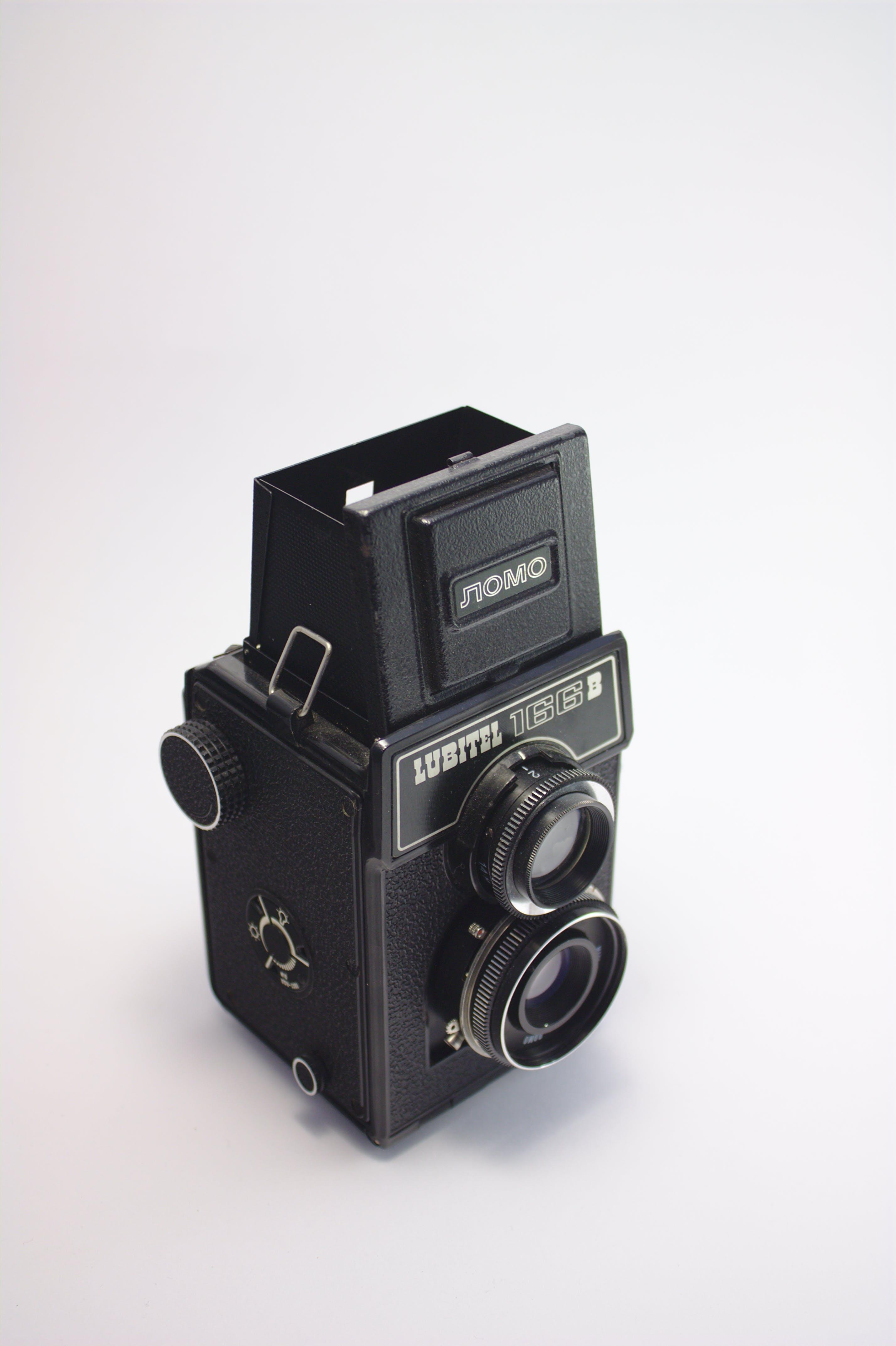Black Twin Lens Camera