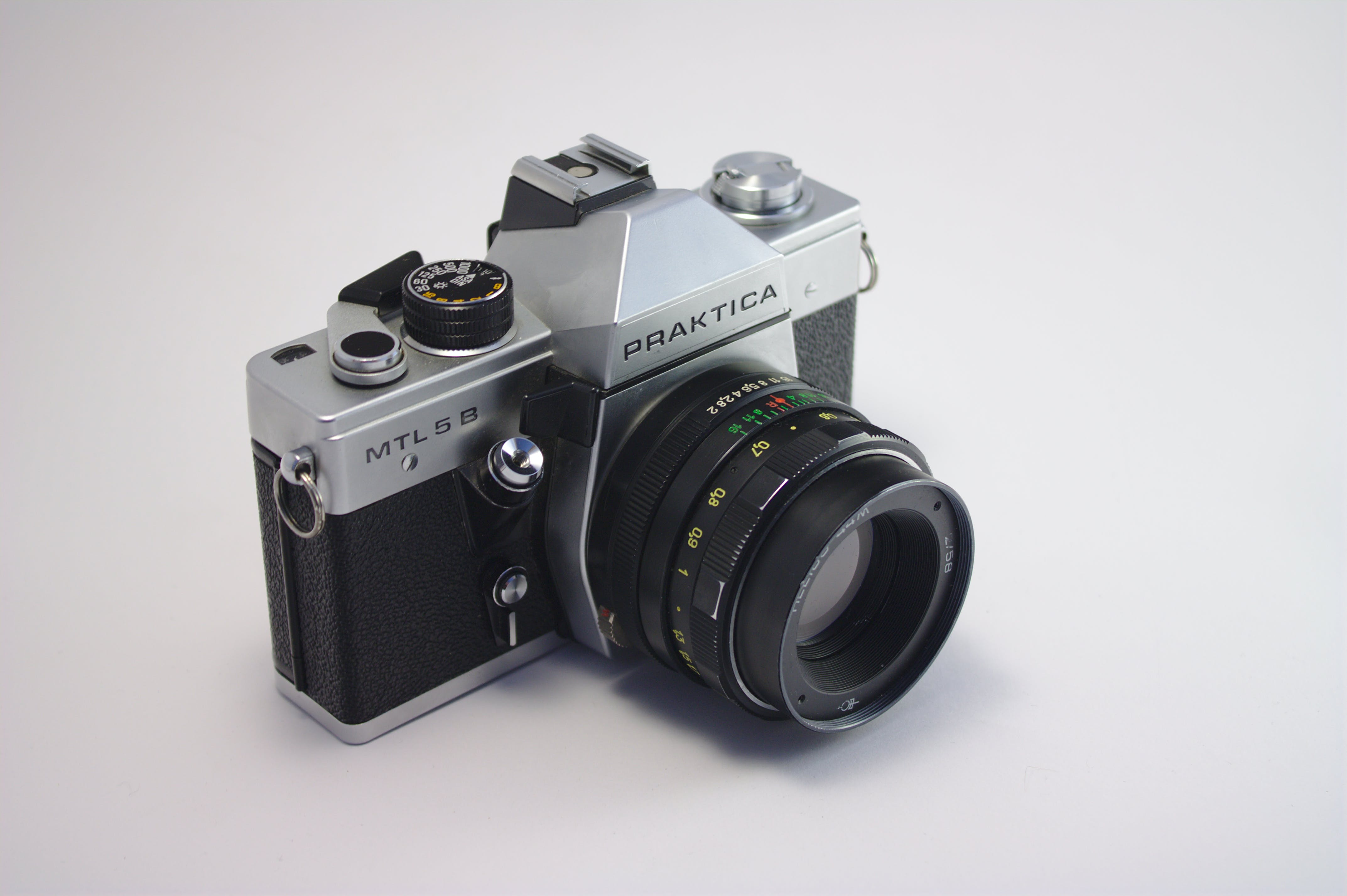 Close-Up Photography of Praktica Camera