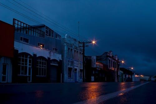 夜の街, 誰も居ない道の無料の写真素材